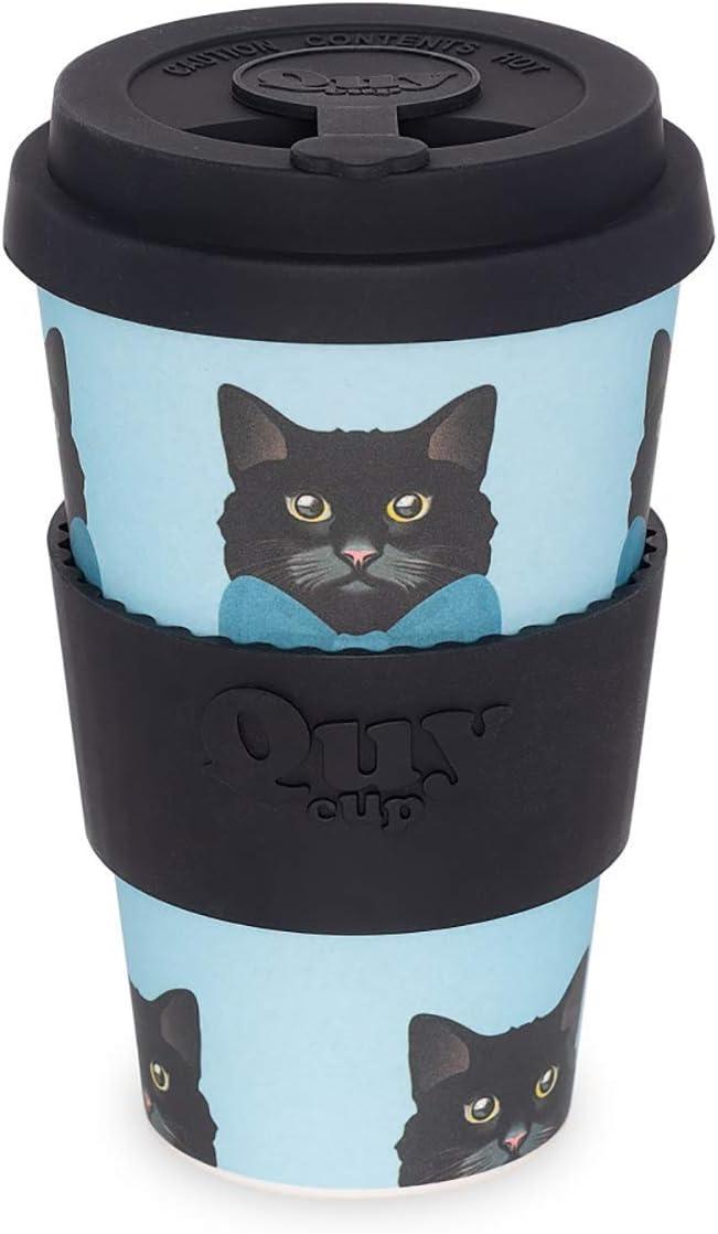 Taza Ecol/ógica Reutilizable para Caf/é Hecho de Fibra Natural 400ml Exclusivo Dise/ño Italiano Libre de BPA QUY CUP Taza de Caf/é de Bamb/ú