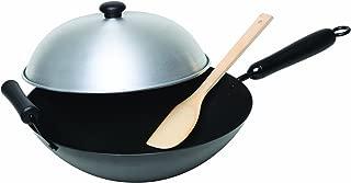 Asian Origins 4-Piece Nonstick Carbon-Steel Wok Set