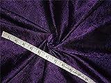 Brokat-Stoff, Seide, 111,8 cm, Violett / Schwarz