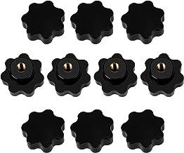 Binnenschroefdraad klemknop M8 stergreepmoer van bakeliet voor gereedschapsmachine meubelgreep zwart 10 stuks