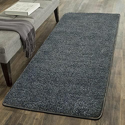 Color&Geometry Weicher moderner Teppich im Shag-Bereich für Wohnzimmer im Innenbereich, Schlafzimmer Dekoration Teppich, Kindergarten Bodenmatte Teppich (grau,60X120CM)