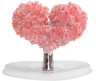 Buhui Paper Sakura Crystal Trees, Magic Growing Tree, Fake Flower for Desk Decoration, Gift for Valentine's Day