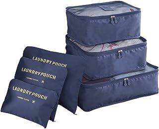COOJA Set de 6 Travel Organizers 3 Packing Cubes + 3 Bolsas, Impermeable Organizador de Viaje para Maletas Bolsa Equipaje ...
