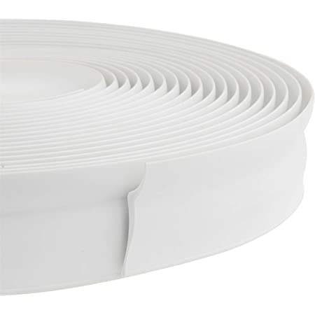 32.8 Feet Long Garage Door Weather Stripping Top and Sides Rubber Seal Strip Replacement, Weatherproofing Universal Sealing Professional (White)