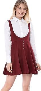 red suspender dress