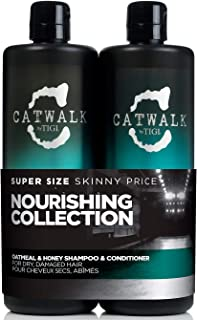 Catwalk Oatmeal & Honey Kit by TIGI for Unisex - 2 Pc Kit 25.36 oz Shampoo, 25.00 oz Conditioner