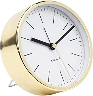 Karlsson Table Clock, Steel, White, One Size
