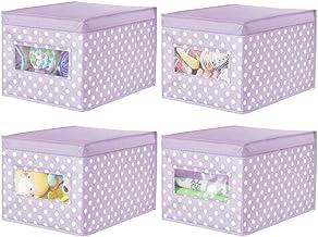 mDesign zestaw 4 dużych miękkich pudełek do przechowywania – materiałowy organizer na garderobę – schludna kostka do przec...