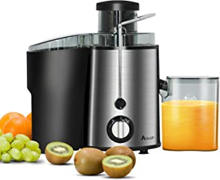 ADVWIN Juicer Wide Mouth Masticating Juicer Extractor, BPA Free Compact Fruits & Vegetables Juicer, Dual Speed Centrifugal...
