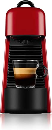 Nespresso Essenza Plus Coffee Machine, Cherry Red