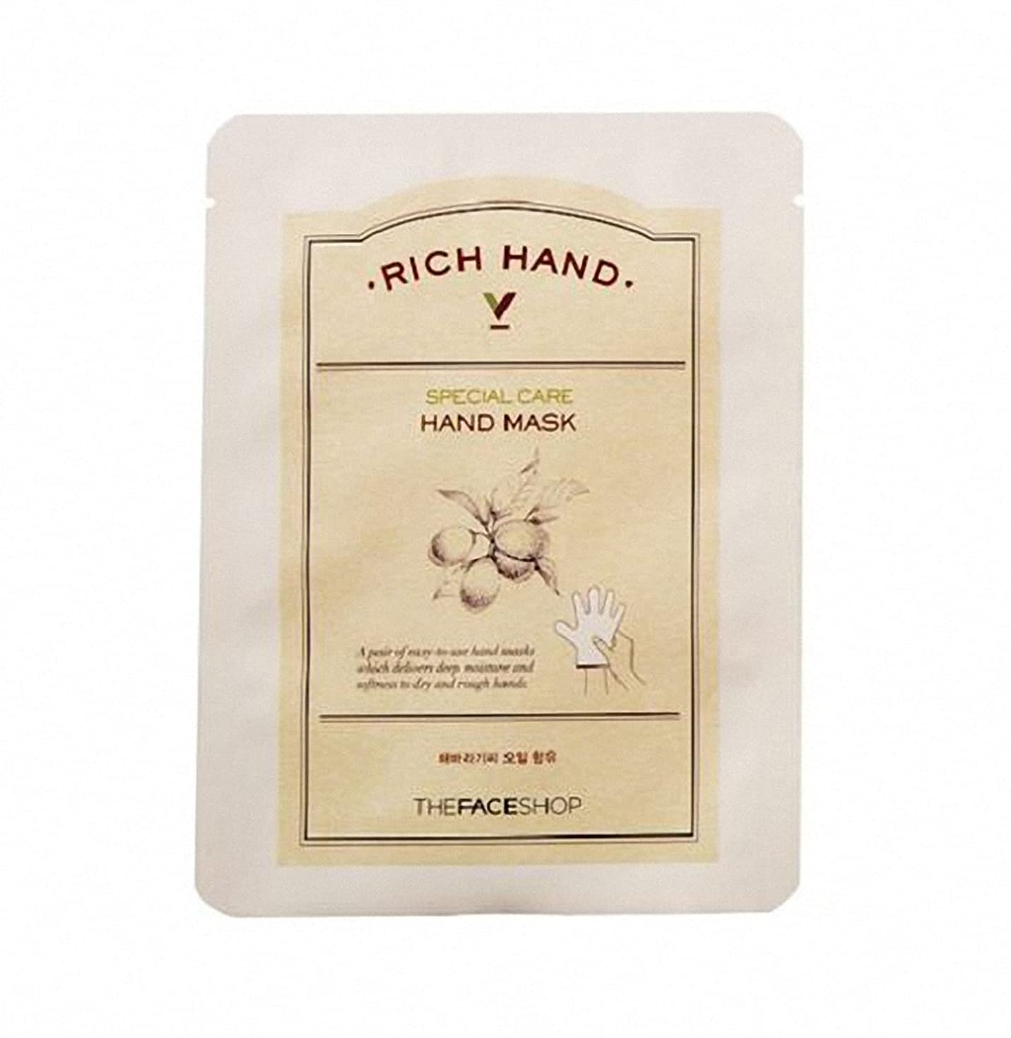 最終的に恩赦スーツケース[ザ·フェイスショップ The Face Shop]  リッチ ハンド V スペシャルケア ハンドマスク (3枚) Rich Hand V Special Care Hand Mask (3 Sheet) 韓国コスメ[海外直送品]