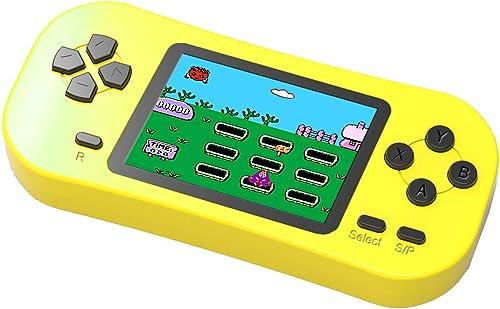 Bornkid Console de Jeu Portable pour Enfants Adultes 218 Jeux éducatifs Rétro Classiques Préinstallés Écran de 2,5 Po...
