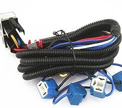 [ALL STAR TRUCK PARTS] 4-Headlight Relay Wiring Harness H4 Headlamp Light Bulb Ceramic Socket Plugs Set