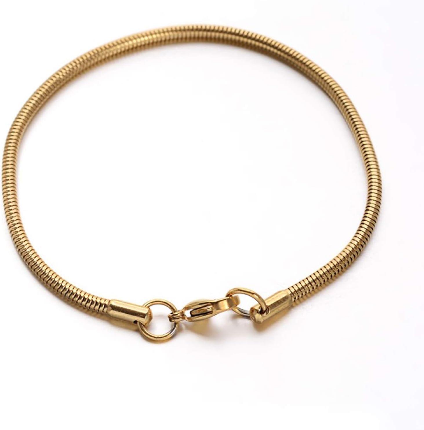 Pandahall 6 Stands Stainless Steel 7-1 Popular popular Bracelets Snake 2 Japan's largest assortment Chains