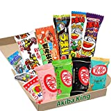 Kit Kat mini chocolate & trial Japanische Dagashi Box Umaibo Snack-Kartoffelchips mit AKIBA KING-Aufkleber -