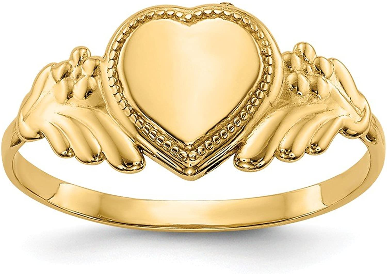 Beautiful Yellow gold 14K Yellowgold 14k Polished Heart Baby Ring