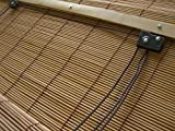 JalousieCrew Bambusrollo Bambus Raffrollo Natur Breite 60-160 cm Länge 160 cm Seitenzug Fenster Tür Rollos Holzrollo (160 x 160 cm)