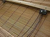 JalousieCrew Bambusrollo Bambus Raffrollo Natur Breite 60-160 cm Länge 160 cm Seitenzug Fenster Tür Rollos Holzrollo