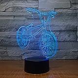 Paseo en bicicleta Friends Night Light 3D LED Lámpara de mesa niños regalo de cumpleaños decoración de la habitación