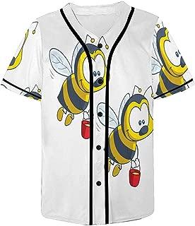 INTERESTPRINT Men's Fashion Baseball Jersey T-Shirt