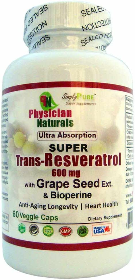 Super Trans Resveratrol with Limited price Grape Seed Bioperine Bombing free shipping mg and 600 Ext