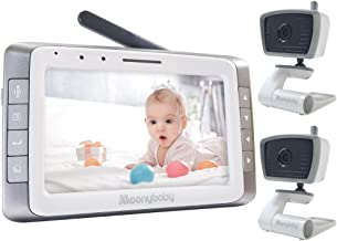 Video Baby Monitor with 2 Cameras, 5 inches Large Screen, Long Battery Life, Long Range,..