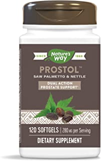 Nature's Way Prostol Prostate Formula, Saw Palmetto & Nettle, 280 mg per serving, 120 Softgels