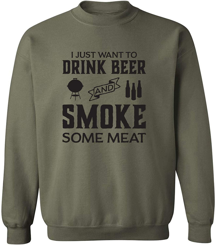 I Just Want To Drink Beer Crewneck Sweatshirt