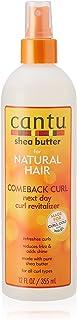 Cantu Shea Butter sprayflaska nästa dag vitaliseringsspray – för naturlig studskraft, 355 ml