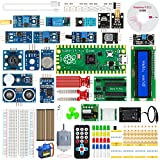 Raspberry Pi Pico Kit Electrico, TICTID Pico Starter Kit Basado en Microprocesor RP2040 para Practicar Python C C++, Guía en español, Motor, Condensadores, Luces LED, Sensores, Ventilador, etc.