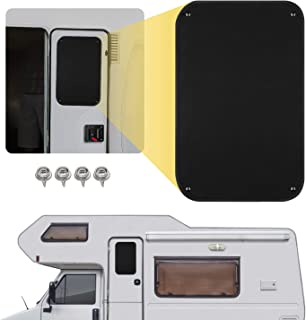 Kohree RV Door Window Shade, 24.75 x 16 Inch Camper Sunshade Privacy Screen Window Cover, Travel Trailer Sun Shade, Acrylic Blackout Fabric, UV Rays Protection, Waterproof, Black