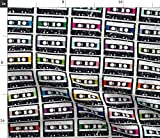 Kassette, Audio, Retro, Vintage, Nerd Stoffe - Individuell