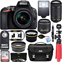 Nikon D5600 DSLR Camera w/AF-P DX 18-55mm VR Lens Bundle