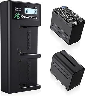 Powerextra NP-F970互換バッテリー 2個セット 8800mAh リチウムイオン電池 7.4V容量 NP F970バッテリー Sony NPF970,F750,F960,F530,F570,CCD-SC55,TR516,TR71...