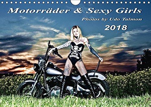 Motorräder u. Sexy Girls 2018 (Wandkalender 2018 DIN A4 quer): Stilvoll gestaltete Bilder mit schweren Maschinen und heiße Girls (Monatskalender, 14 ... [Kalender] [Jun 10, 2017] Talmon, Udo