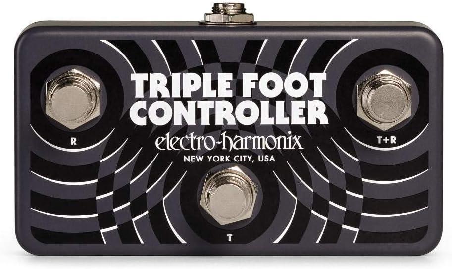 Electro Harmonix - Controlador triple para pies, color negro
