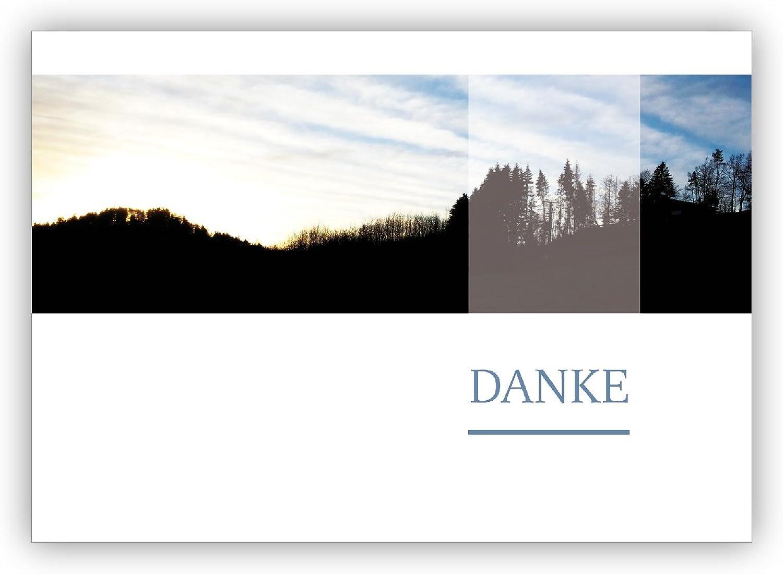 16 Grußkarten (16er Set)  Edle Foto Trauer Trauer Trauer Dankeskarte mit Wald Landschaft  Danke B01IPXS0UU | Haben Wir Lob Von Kunden Gewonnen  79ec2e