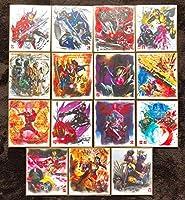 仮面ライダー色紙アート7 全15種 フルコンプリートセット セイバー