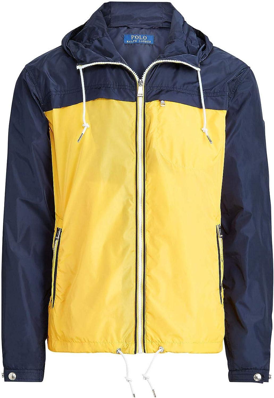 POLO Ralph Lauren Mens Aviator Color Block Packable Anorak Jacket