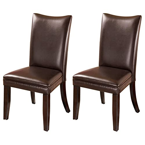 Wondrous Leather Parson Chairs Amazon Com Creativecarmelina Interior Chair Design Creativecarmelinacom