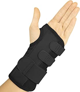 Vive Carpal Tunnel Wrist Brace (Left or Right) - Arm Compression Hand Support Splint - for Men, Women, Kids, Bowling, Tend...
