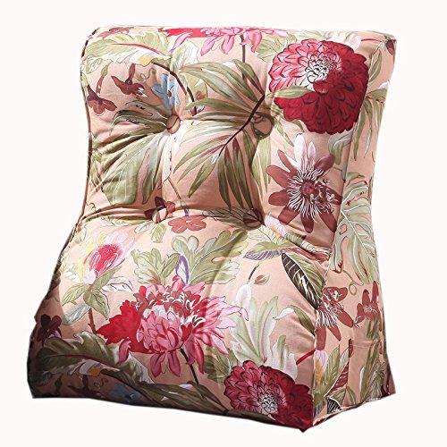 uus Rose / rouge Triangle Canapé Coussin Siège de la chaise Coussin de coussin de motif utile Ralentissement lent Design ergonomique Dossier confortable 45 * 55cm / 55 * 60cm ( taille : 55*60cm )