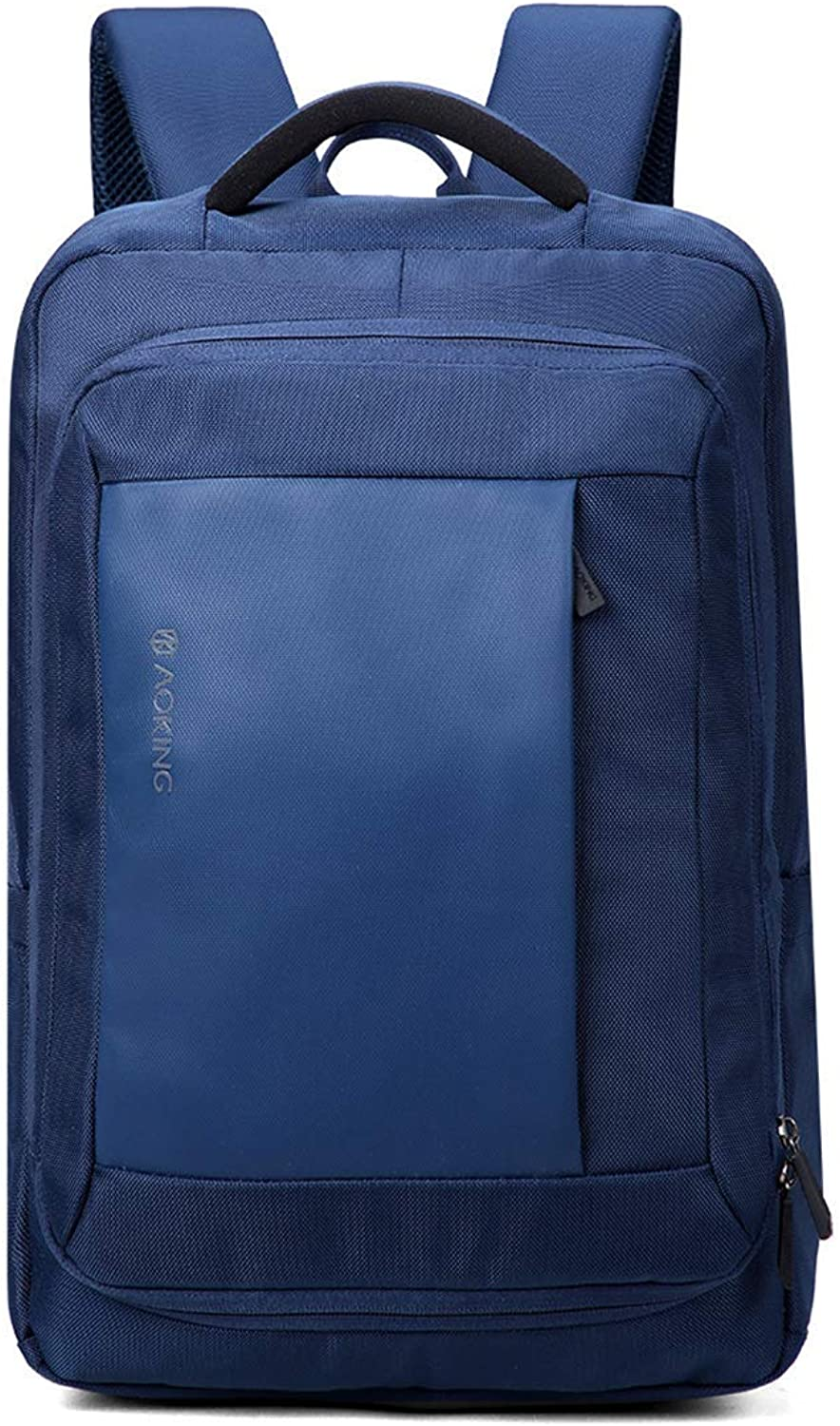 Duffel Bag Business Computer Backpack Large Capacity Lightweight School Bag AntiTheft Gym Bag (color   blueee)