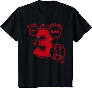Enfant Cadeau anniversaire 3 ans humour - trop chou pour mes 3 ans T-Shirt