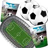 Folat/Carpeta 37-teiliges Partyset * Fussball Stadion * mit Teller + Becher + Servietten + Deko //...