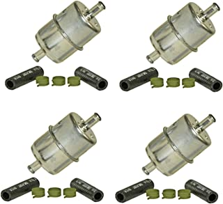 """Wix 33033 (3/8"""") In-line Fuel Filter, Pack of 4"""