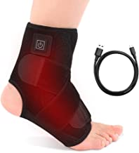Heated Ankle Support Wraps Breathable Ankle Brace for Running Basketball Ankle Sprain Wrap Men Women, Left Right Foot Brace