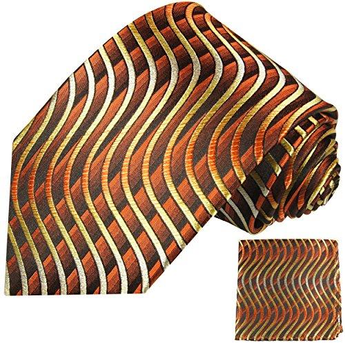 Cravate homme marron les vagues ensemble de cravate 2 Pièces ( longueur 165cm )