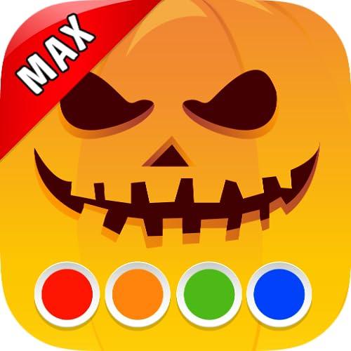 Malbuch - Halloween MAX