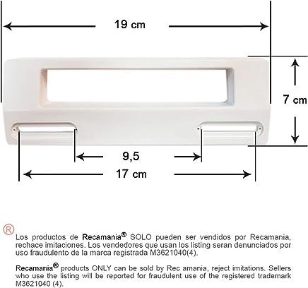 Tirador puerta Frigorifico BLANCO Distancia entre agujeros mínimo 9.5 cm. Mäximo 17 cm